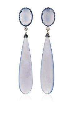 Chalcedony Drop Earrings by SIDNEY GARBER for Preorder on Moda Operandi