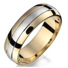 Two Tone Wedding Bands Collection ST2TONE-03-10K