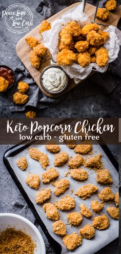 Not only is this Keto Popcorn Chicken low in carbs, but it is also gluten free, making it the perfect healthy treat while still feeling indulgent. #ketorecipes #ketopopcornchicken #lchf via @PeaceLoveLoCarb