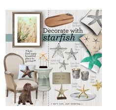 """""""Decorate with starfish"""" by ellergy ❤ liked on Polyvore"""