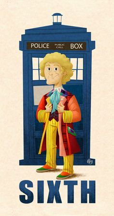 Doctor: Peri: What's happened? The Doctor: Change, my dear. And it seems not a moment too soon. The Doctor, Serie Doctor, Fifth Doctor, Doctor Who Fan Art, Eleventh Doctor, Dr Who, Colin Baker, Peter Davison, Classic Doctor Who