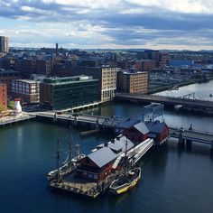 Looking down upon our little slice of life in the #fortpointchannel from the… #BostonTeaPartyShipsMuseum #Boston #MarketDistrict #Boston