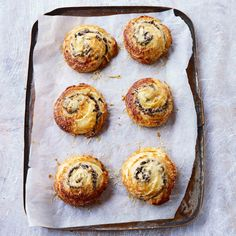 Paul Hollywood's Emmenthal, onion and mushroom savoury pastries would make a delicious brunch or lunch