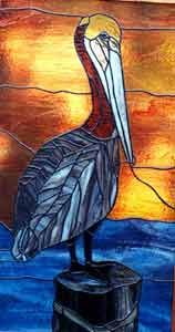 Pelican - Robyn L. Heureux - Warner Stained Glass