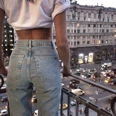 High waisted denim by American Apparel
