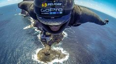 Whenever you encounter an obstacle in the #outdoors, ask yourself... What Would Jeb Corliss Do? #PelicanPro