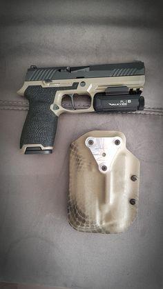 Sig P320 custom Apex trigger O light PL-1 Stippling Kydex holster 7075 G-code fix