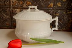Wedgewood Ironstone Antique Chamber Pot with by ironstonevintage, $32.00