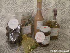 Post aus meiner Küche - Weihnachtsschickerei: Spekulatiuslikör, Spekulatiustrüffel, Currymandeln, Apfelweingelee, Adventsmilchreis
