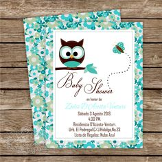 Ina's Place Invitations & Party Supplies: Un tema muy recurrente. Me encantan! Baby Shower Themes, Baby Boy Shower, Shower Ideas, Paper Owls, Baby Shower Invitaciones, Cute Owl, Woodland Baby, Christening, Diy And Crafts