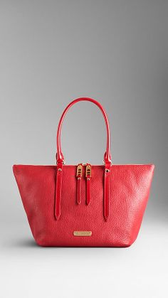 Small Grainy Leather Tote Bag | Burberry