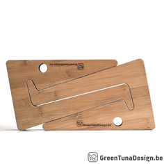 Bamboo Wood Laptop Stand for lovers of by greentunadesign on Etsy