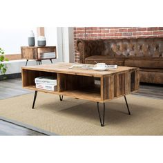 Instantly complete your living space with the Crawford & Burke Turner Coffee Table. This coffee table features a rustic style, which adds a character-filled piece of furniture to your room that will enhance the earthy tone of your interior design. Foldable Coffee Table, Narrow Coffee Table, Natural Wood Coffee Table, Reclaimed Wood Coffee Table, Diy Coffee Table, Coffee Table With Storage, Hair Pin Coffee Table, Hairpin Leg Coffee Table, Modern Rustic Interiors