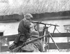 Waffen 5'th SS Division Wiking- Wiking trooper operating a mg34 in a fire fight on the eastern front, Operation Barbarossa,1941