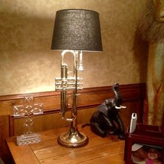 Tom Howell created this magnificent lamp from brass trumpet! You can find him on Etsy at Jakespaint