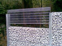 Gabion fencing or wall system