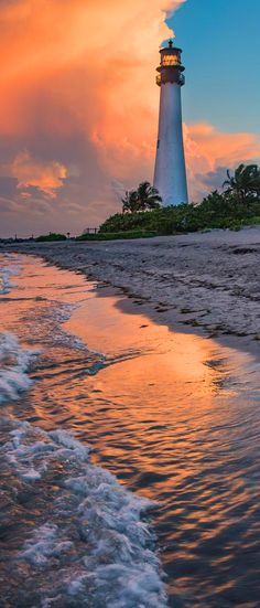 Key Biscayne lighthouse, Florida, USA