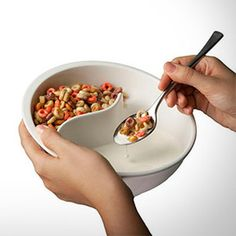 Obol..Sequestered cereal and milk bowl. Bought one of these from Fab.com in orange. They're pretty big, but my son and I share a giant bowl of cereal most Saturdays.