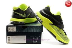 Authentic Custom Black/Volt Green KDVII-035 Nike KD 7 (VII)