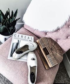 Houston fashion and lifestyle blogger Tiffany Jais | Flatlay, snake plant, office decor, cult gaia bag in size small, Soludos platforms,