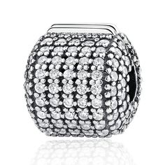 fbd9b288f Everbling Heart Love of My Life Star Barrel Pavé with Pink CZ Clip 925 Sterling  Silver
