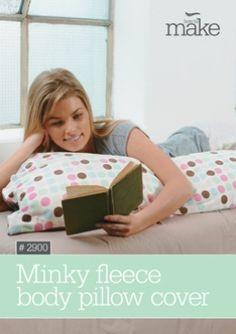 Minky Fleece Body Pillow Cover
