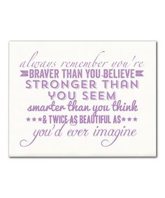 Another great find on #zulily! Orchid 'Always Remember' Print by IScreenYouScreen #zulilyfinds