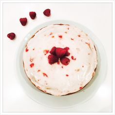 Coconut raspberry vegan cake