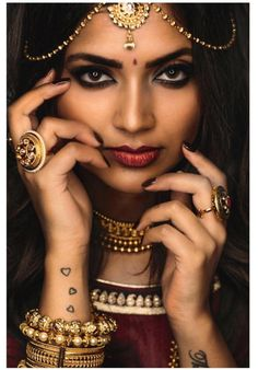 Model:Vithya hair and makeup Vithya is modelling for the campaign Mayil Creations.Mayil Creations is a jewellery based store. This look is inspired by Sri Devi in the 80s with stunning statement jewellery from their popular antique gold jewellery range.