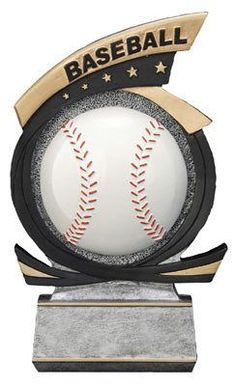 "7"" Gold Star Baseball Trophy"