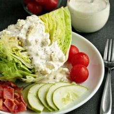 A homemade blue cheese dressing that is perfect for summer salads. #foodgawker