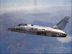 USAF F-100 Super Sabre Fighter Jet....