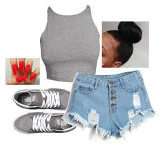"""""""basic"""" by itsbabya1 ❤ liked on Polyvore featuring Vans"""