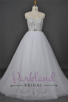 "http://www.parklandbridal.co.nz/Store/tabid/4393/ProdID/33800/CatID/358/Parkland_Bridal_Cinderella.aspx  This gown is a true princess dress, so it is well named ""Cinderella"". This gorgeous gown has a sweetheart neckline and a heavily beaded bodice. The skirt is a gorgeous soft tulle princess skirt."