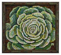 Succulent. Donna Van Hooser by Lin Schorr, via Flickr. #mosaic #tile