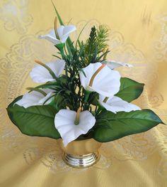 Arranjo Floral Artificial Mini Copo de Leite Branco - 20609441 | enjoei :p
