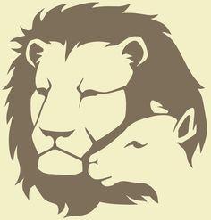 Lion and the Lamb leg tattoos