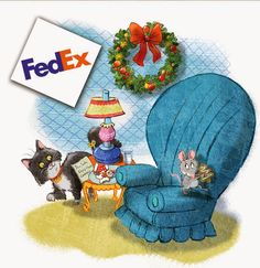 Mouse's Christmas Cookie will be in FedEx stores this holiday season!