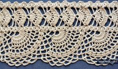 MyPicot is always looking for excellence and intends to be the most authentic, creative, and innovative advanced crochet laboratory in the world. Crochet Boarders, Crochet Edging Patterns, Crochet Lace Edging, Crochet Motifs, Crochet Chart, Thread Crochet, Crochet Trim, Crochet Designs, Stitch Patterns