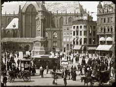 Since you liked this post about old Amsterdam so much, I thought of building some more on the subject, this time by introducing you to Jacob Olie`s photography. Jacob Olie was a Dutch p… Dam Square, Van Gogh Museum, I Amsterdam, Old Pictures, Netherlands, Holland, 19th Century, Dutch, Street View