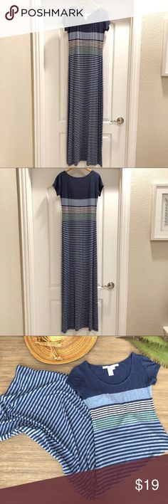 Max Studio Maxi T-Shirt Dress Cute and comfortable Max Studio Maxi. Love the soft material that's perfect for Spring and Summer.   Excellent used condition condition, only worn a couple of times. No stains or tears.  See photos for details. Smoke-free & pet-free home. Max Studio Dresses Maxi