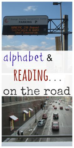 alphabet and reading on the road | playing with environmental print #weteach