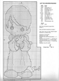 & 1/2 Cross Stitch Charts, Cross Stitch Patterns, Canvas Pictures, Precious Moments, Plastic Canvas, Cross Stitching, Embroidery Patterns, Babys, Teddy Bear