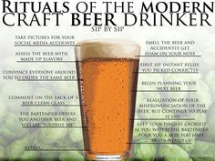 This is quite funny, but living in a craft beer mecca I can attest that this infographic is also true!