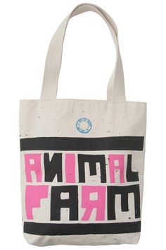 3f40ce67f62 animal farm tote bag from out of print clothing. Canvas Book Bag, Gifts For