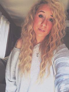 #hair #blonde #crimp #wavy