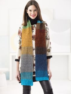 Crochet Scarf Ideas Free Crochet Patterns For the Mandala Yarn by Lion Brand Yarns - Many Free Crochet Patterns For the Mandala Yarn by Lion Brand Yarns. Find gorgeous and free patterns designed for the Mandala Yarn Crochet Scarf For Beginners, Beginner Knit Scarf, Crochet Scarf Easy, Crochet Lion, Crochet Gratis, Crochet Scarves, Crochet Shawl, Free Crochet, Knitting Scarves