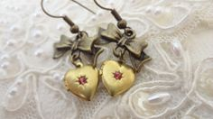 Valentine Heart Earrings Estate Style by BerthaLouiseDesigns, $17.95