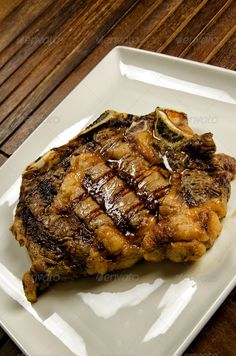 Grilled beef steak with bone