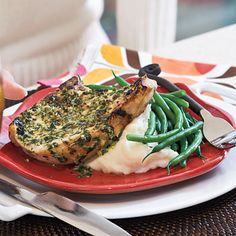 Pork Chops With Herb-Mustard Butter | 20 Minutes | SouthernLiving.com